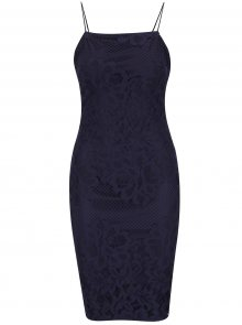 Tmavě modré šaty na tenká ramínka AX Paris