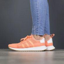 Boty - adidas Originals | ORANŽOVÝ | 36 2/3 - Dámské boty sneakers adidas Originals Flashback Primeknit BY9104