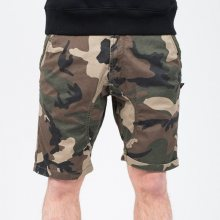 Boty - Alpha Industries | HNĚDÝ | 33 - Alpha Industries Kerosene Short Camo 176205 408