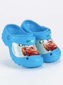 Gumové modré detské nazouváky s autem