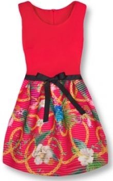 MODOVO Elegantní dámské šaty 2634 červené