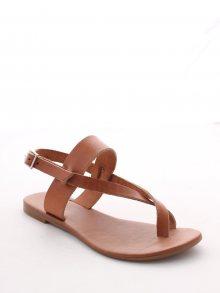 Gio&Mi Dámské sandály HS-14_TOBAC