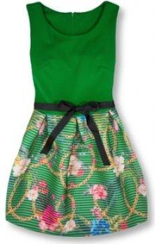 MODOVO Elegantní dámské šaty 2634 zelené