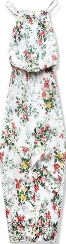 Bílé maxi šaty v BOHO stylu