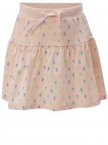 Světle růžová holčičí vzorovaná sukně 5.10.15.