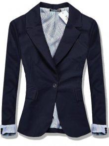 Tmavě modré sako na zapínání