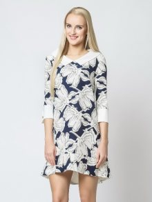 Margo Collection Dámské šaty DRESS 528B WHITE BLUE\n					\n