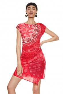 Desigual červené šaty India