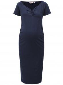 Tmavě modré pouzdrové těhotenské šaty Dorothy Perkins Maternity