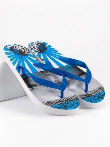 Lehké modré pánské nazouváky