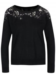 Černý svetr s krajkovými detaily ONLY Maia