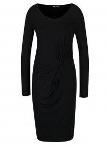 Černé šaty s řasením ONLY Rina