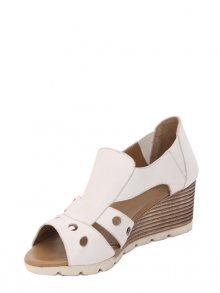 Parione Dámské kožené sandály na klínku PR071