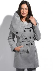 Special Coats Dámský kabát 5515-MANTEAU ADELE P3096 GRIS\n\n