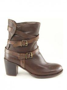 Karakool Dámská kotníčková obuv ambra-dark brown_cow bottalato