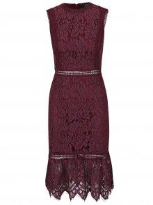 Tmavě fialové krajkové šaty AX Paris