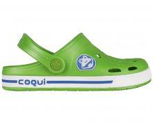 Coqui Dětské pantofle Froggy 8801 Lime/White 101966 26-27