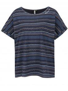 Tmavě modré dámské vzorované oversize tričko Ragwear Tribe A Organic