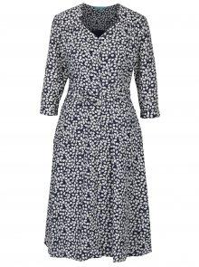 Modro-bílé vzorované košilové šaty s páskem Fever London Morris