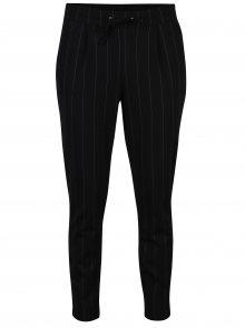 Černé pruhované zkrácené kalhoty Jacqueline de Yong Laundry