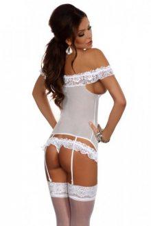 Beauty Night Consuela white Erotická Souprava L/XL bílá