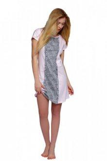 Noční košilka Sensis Diana XL růžovo-šedá
