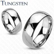 Prsten z wolframu - stříbrný, motiv Pán prstenů F3.10