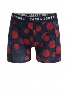 Červeno-modré puntíkované boxerky Jack & Jones Path