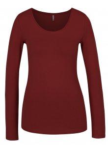 Červené basic tričko s dlouhým rukávem ONLY Live