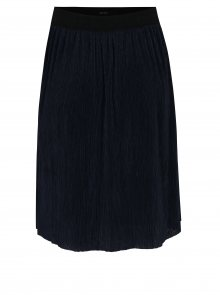 Tmavě modrá plisovaná sukně VERO MODA Mila