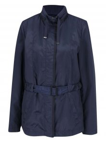 Modrá dámská bunda s kapucí v límci Geox