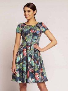 Karen Dámské šaty H43_BUTTERFLIES_NAVY