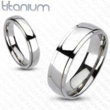 Titanový prsten s níže položenými okraji K10.5