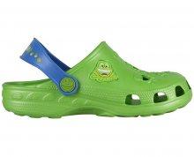 Coqui Dětské pantofle Little Frog 8701 Lime/Royal 100319 24-25