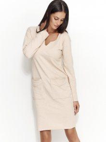 Numinou Dámské šaty NU_nu51_nude melange