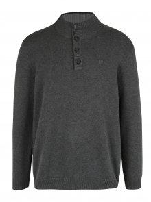 Šedý svetr s knoflíky JP 1880
