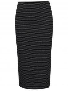 Černá pruhovaná pouzdrová sukně Only Abbie