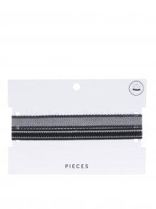 Sada dvou krajkových chokerů v černé barvě Pieces Neel