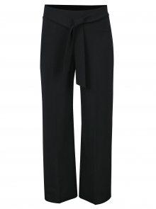 Černé culottes kalhoty s mašlí a vysokým pasem Miss Selfridge Petites