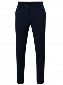 Tmavě modré oblekové vlněné kalhoty Good Son