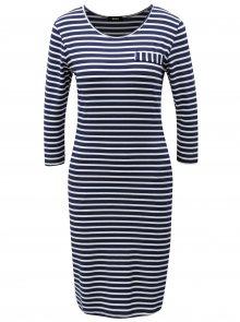 Bílo-modré pruhované šaty s kapsami ZOOT