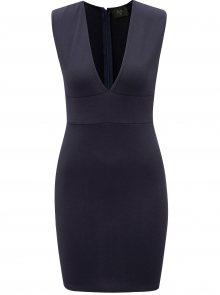 Tmavě modré šaty s hlubokým výstřihem AX Paris
