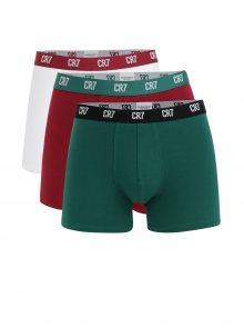 Sada tří boxerek v červené, zelené a bílé barvě CR7