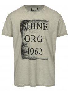 Šedé tričko s potiskem a krátkým rukávem Shine Original