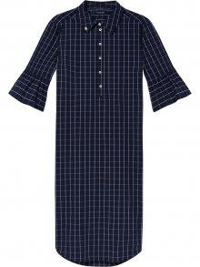 Scotch&Soda tmavě modré košilové šaty Ruffle Sleeve Shirt Dress - XS