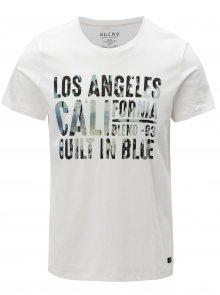 Bílé regular fit tričko s potiskem Blend