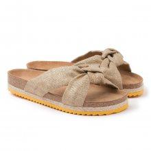 Paez zlaté pantofle Bio Foulard Sandal