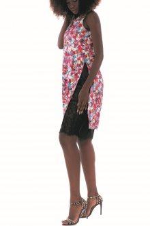 Culito from Spain barevné oversize šaty Petalos Con Cinto