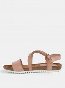 Starorůžové kožené sandály OJJU