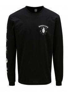 Černé pánské tričko s dlouhým rukávem Horsefeathers Hoppy